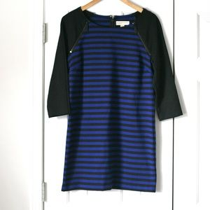Michael Kors blue black stripe mini dress tunic